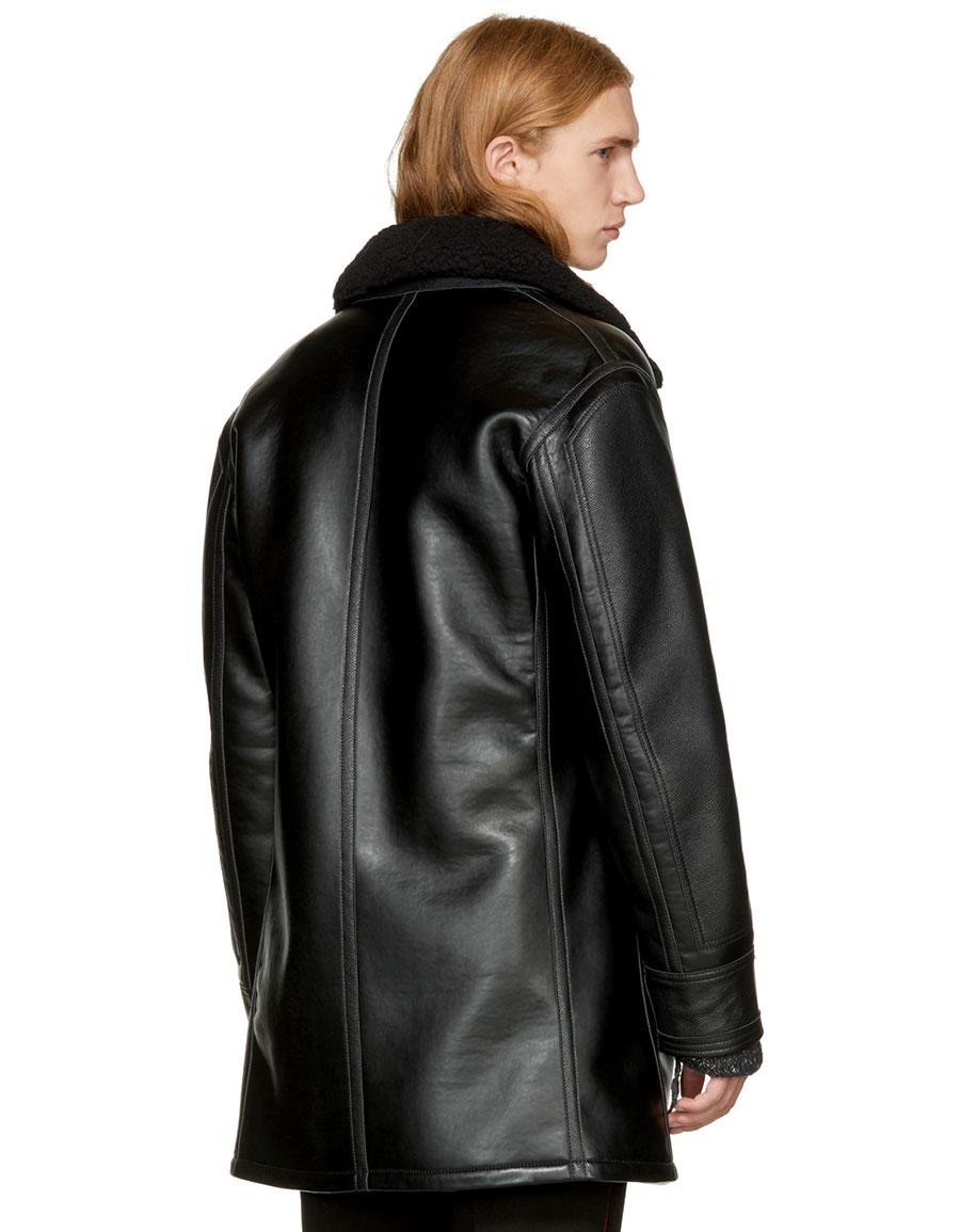 STELLA MCCARTNEY Black Faux Leather Coat