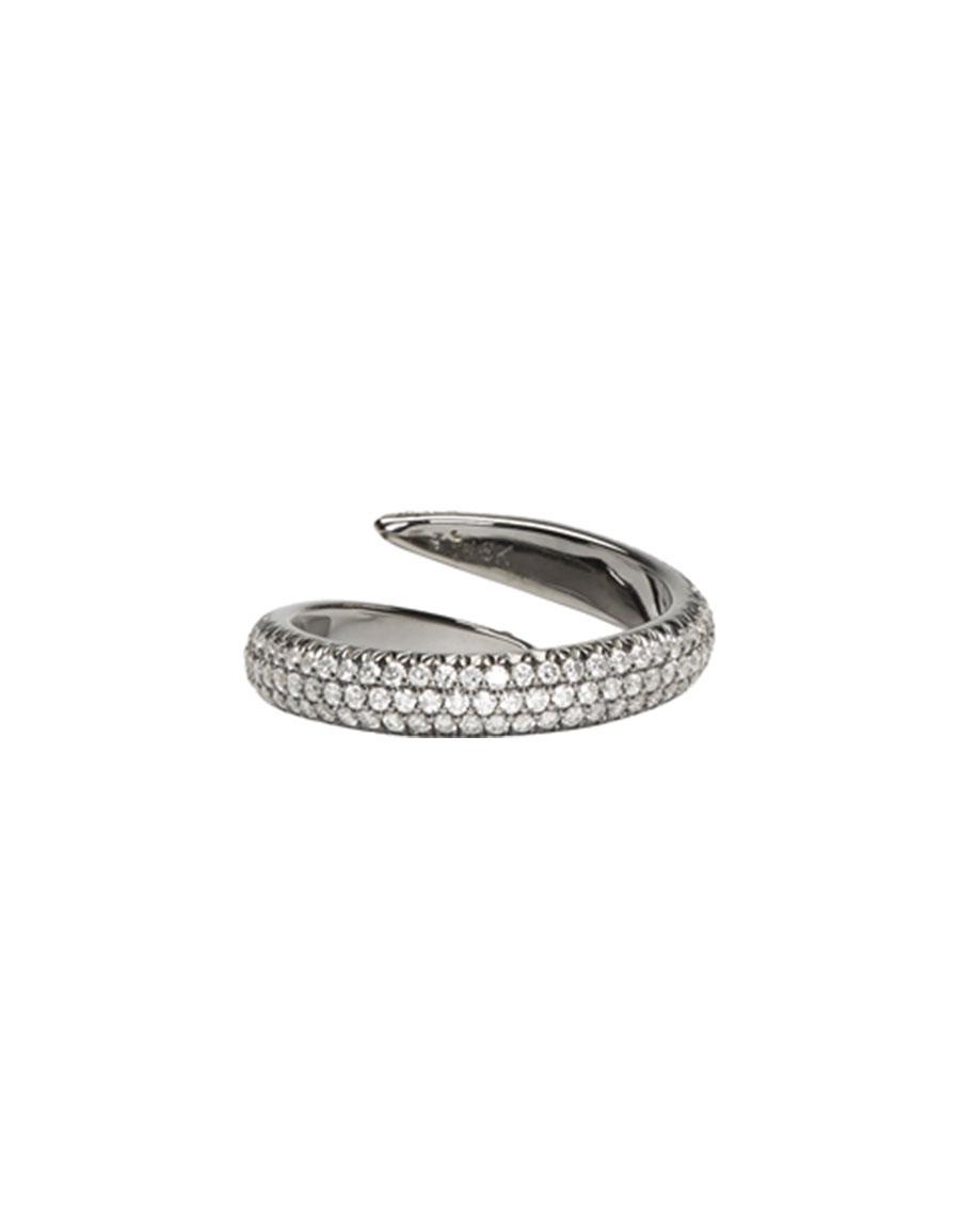 EVA FEHREN Black Gold Diamond Wrap Claw Ring