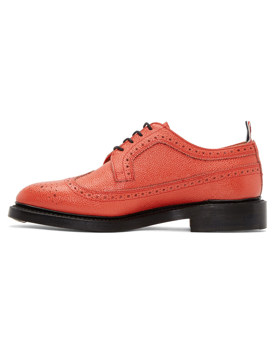 THOM BROWNE Red Classic Longwing Brogues