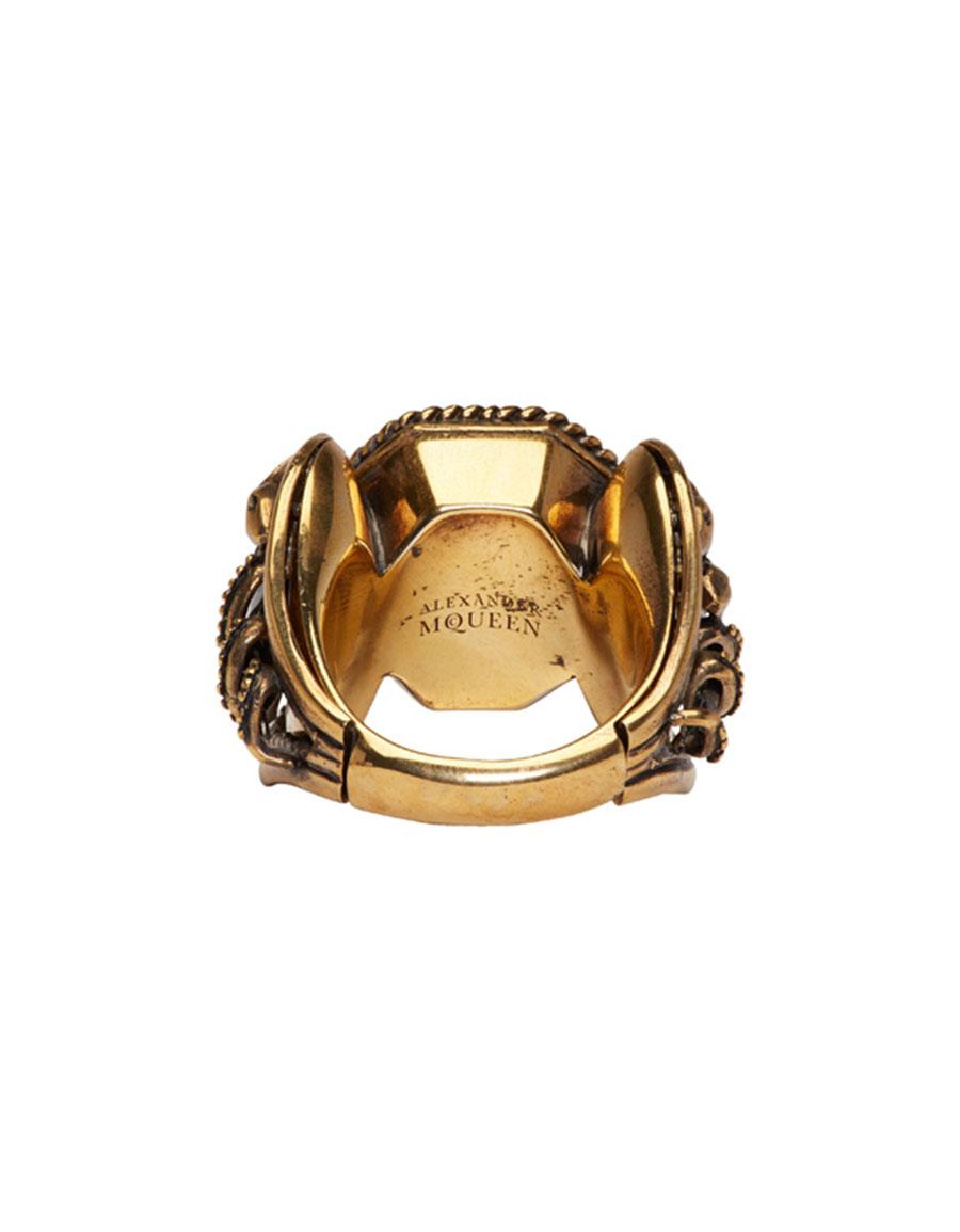 ALEXANDER MCQUEEN Gold Snake & Dagger Ring