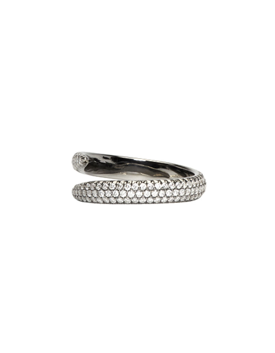 EVA FEHREN Black Gold Diamond Wrap Claw Ring