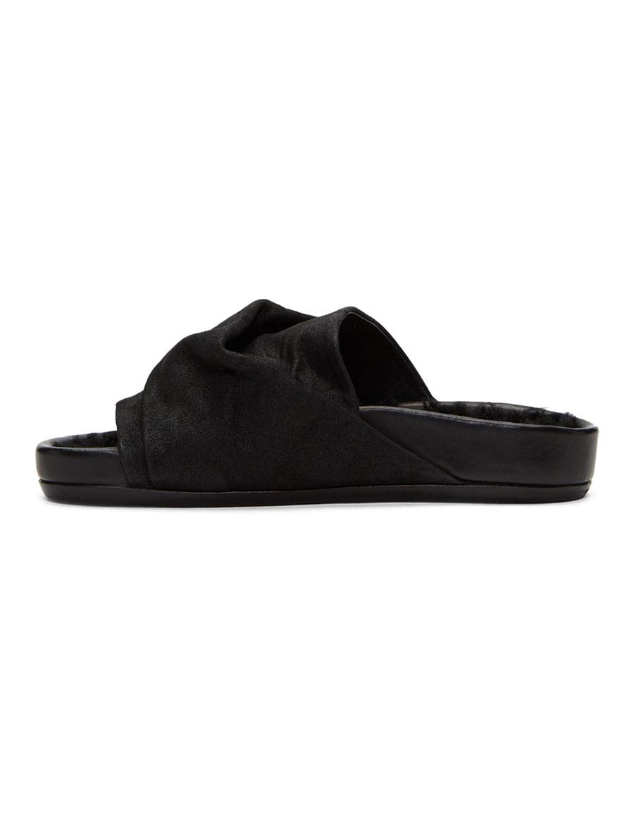 RICK OWENS Black Mobius Sandals
