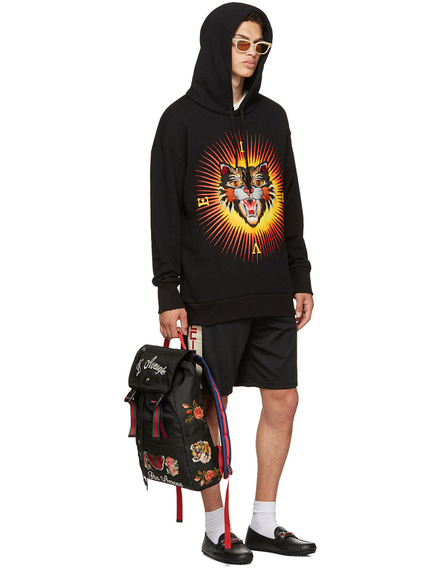 GUCCI Black Angry Cat 'Modern Future' Hoodie