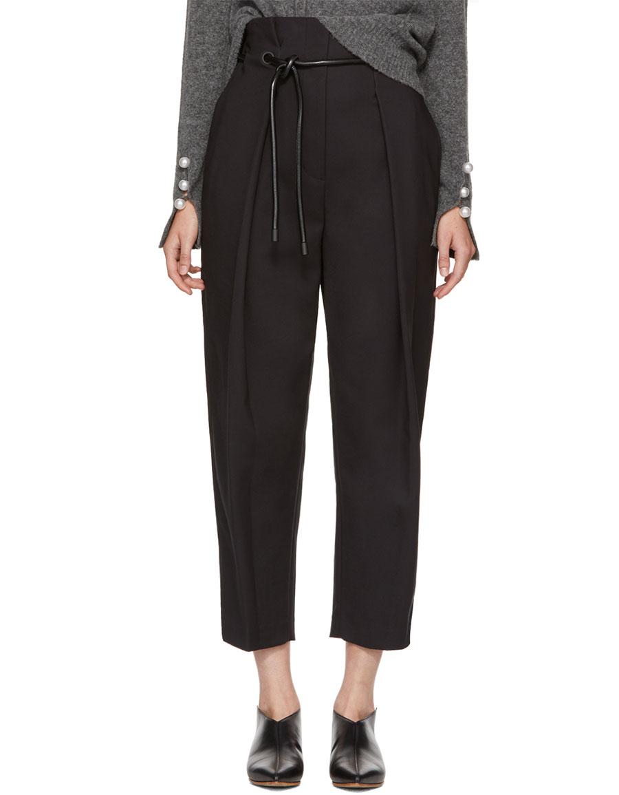 3.1 PHILLIP LIM Black Origami Trousers