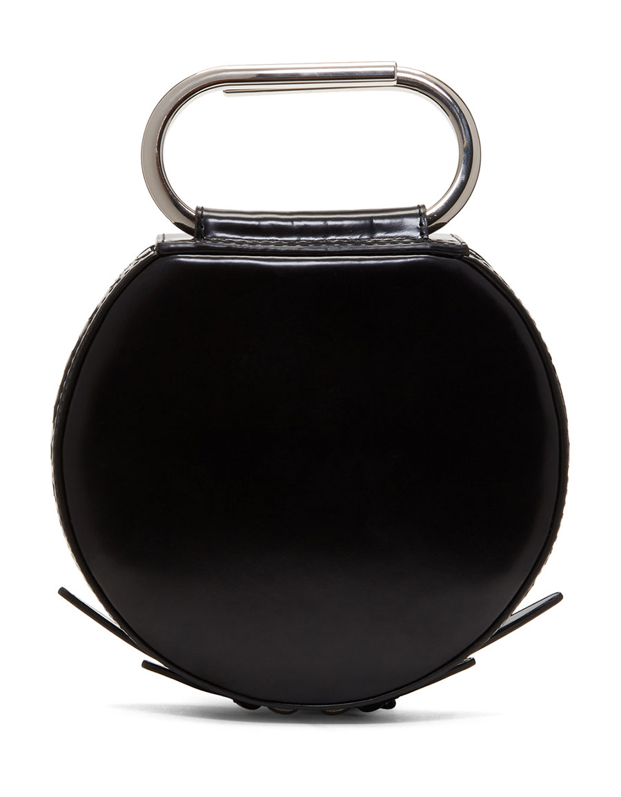 3.1 PHILLIP LIM Black Alix Circle Clutch
