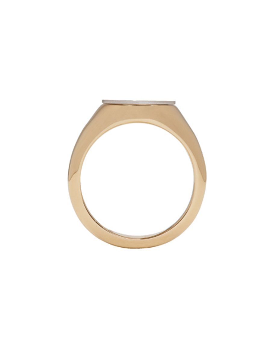 J.W. ANDERSON Gold & Silver Logo Signet Ring