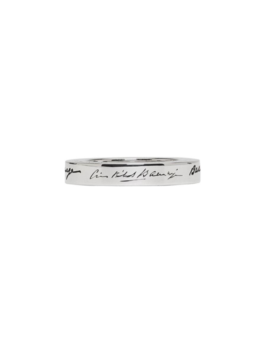 BALENCIAGA Silver URL Ring