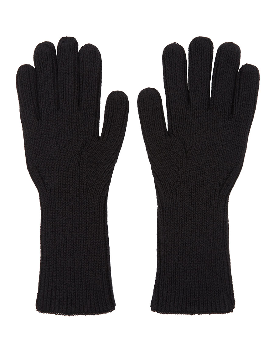 Y 3 Black Logo Gloves