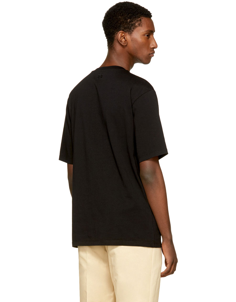 LOEWE Black 'Fire of Youth' Poster T Shirt