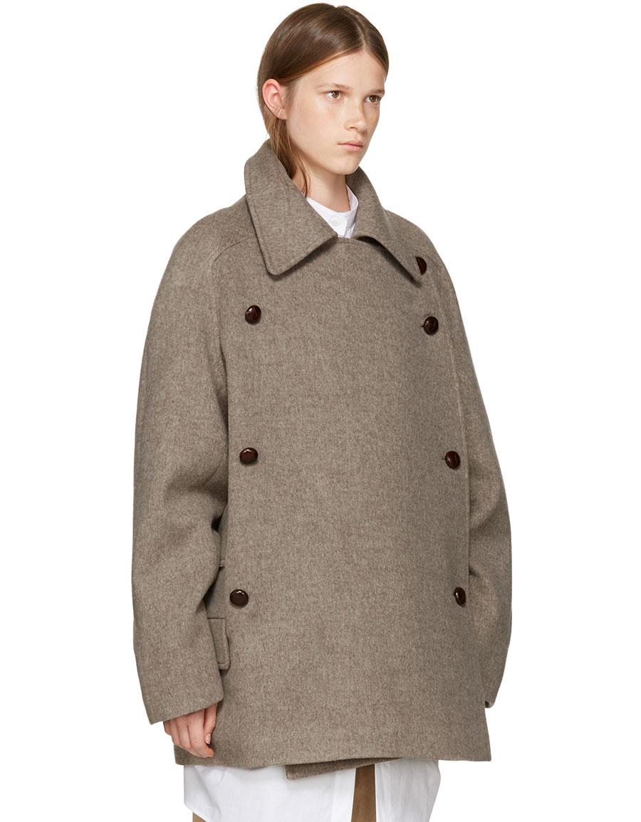 NEHERA Brown Merino Colina Coat