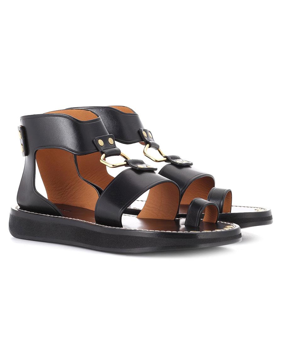 ISABEL MARANT Nindle leather sandals