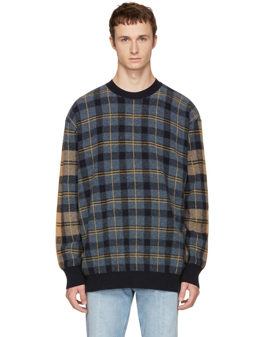 STELLA MCCARTNEY Multicolor Tartan Crewneck Sweater