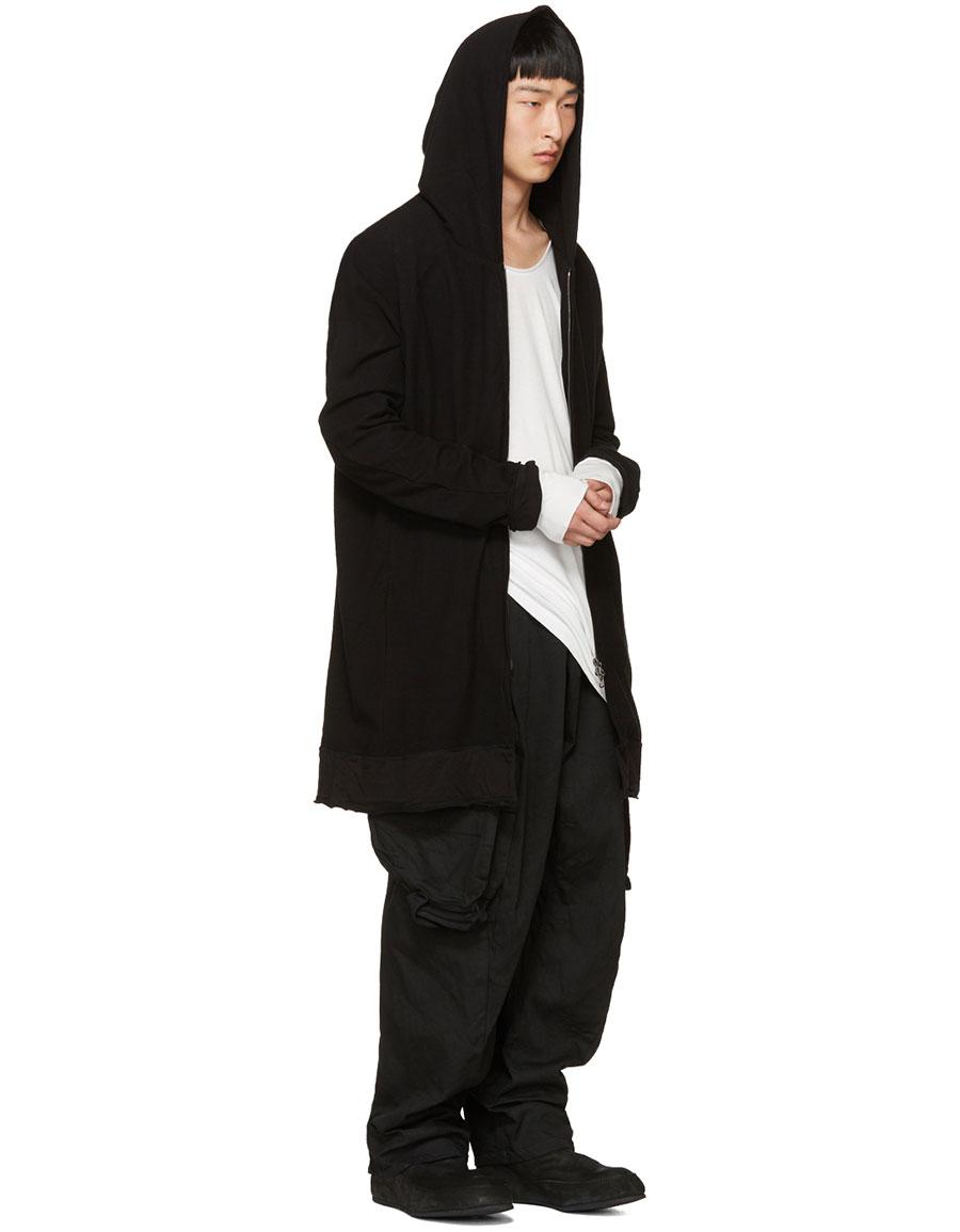 JULIUS Black Gas Mask Cargo Pants