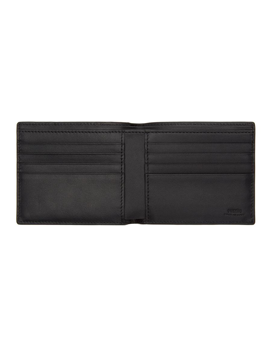 FENDI Black Snakeskin 'Bag Bugs' Wallet