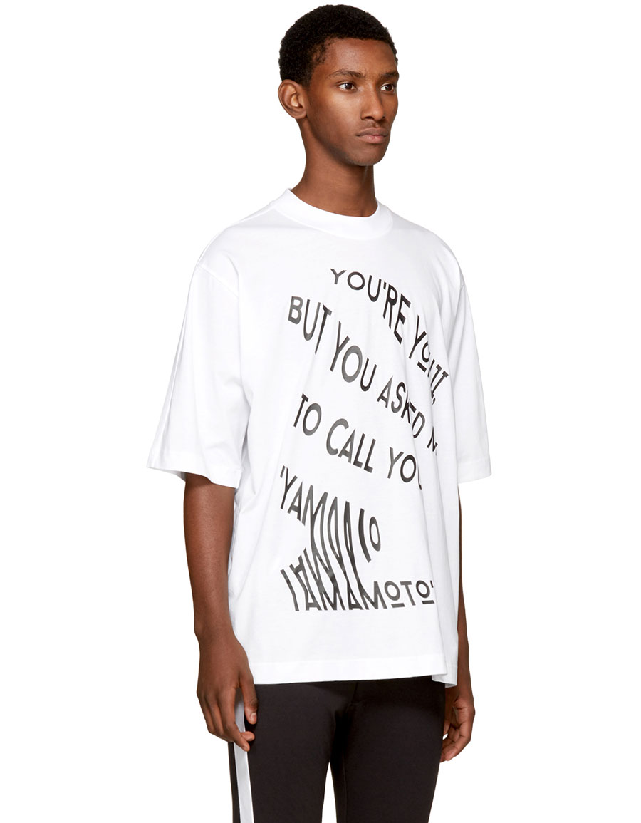 Y 3 White 'You're Yohji' T Shirt