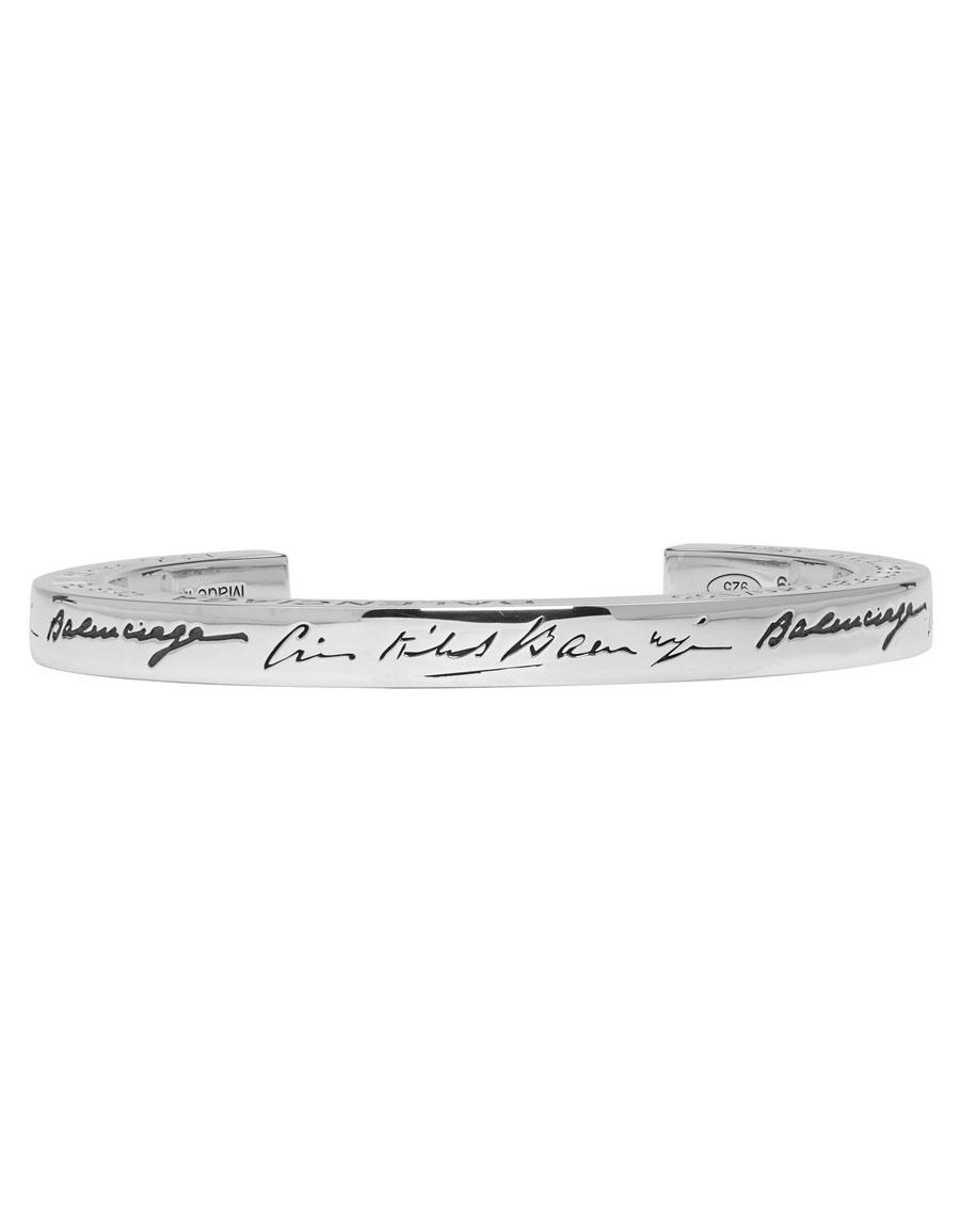 BALENCIAGA Silver URL Cuff
