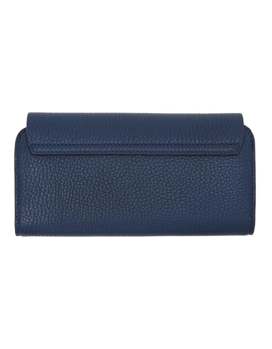 CHLOÉ Navy Long Drew Flap Wallet
