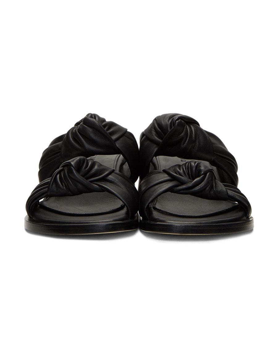 HELMUT LANG Black Knot Heeled Sandals