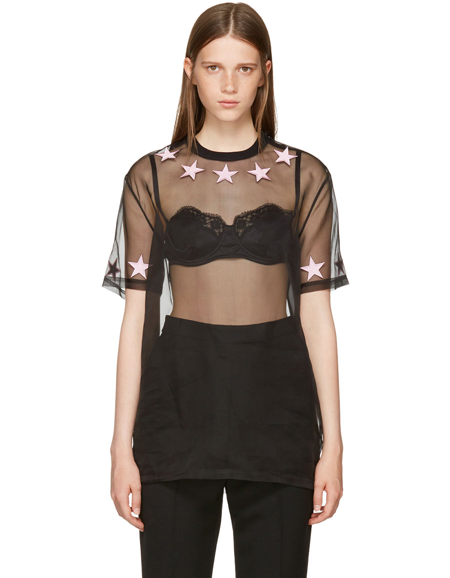 GIVENCHY Black Star Necklace T Shirt