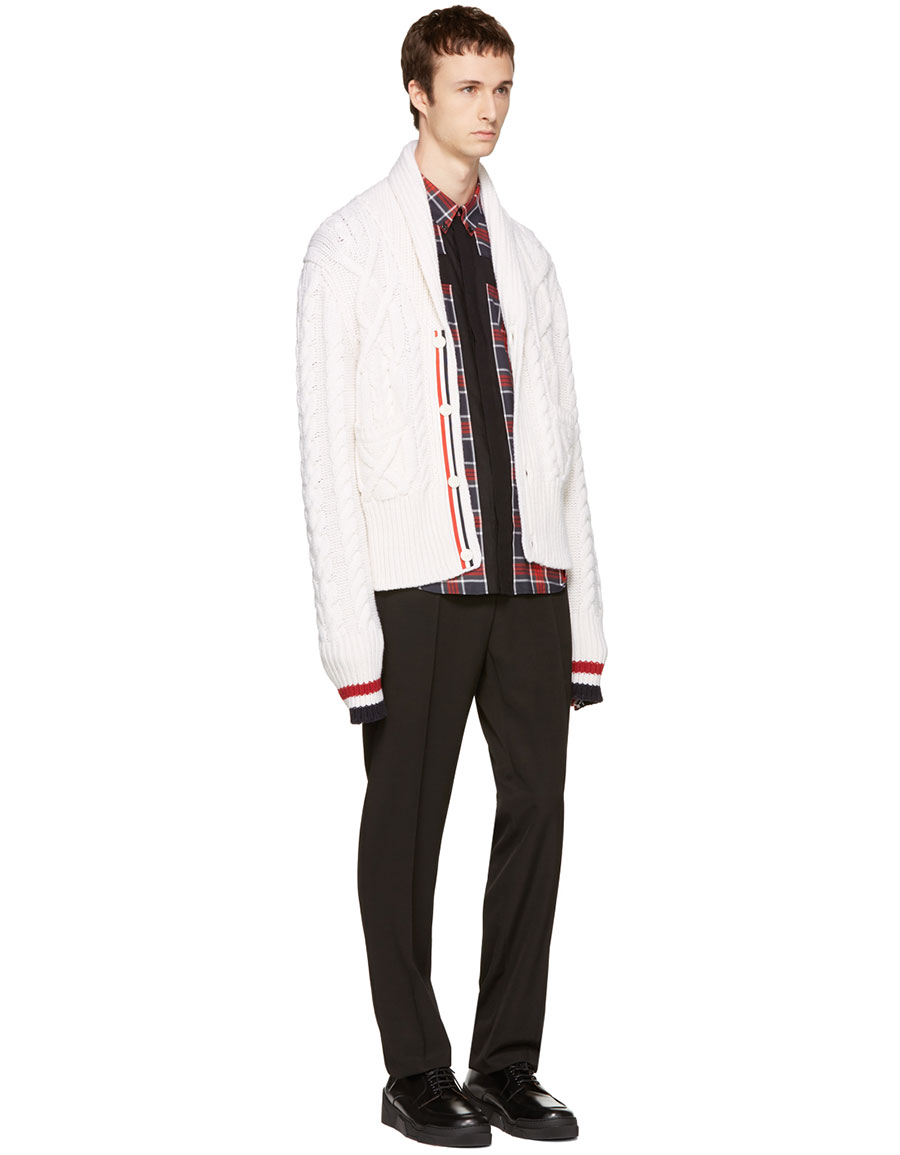 GIVENCHY Red Plaid Cross Shirt