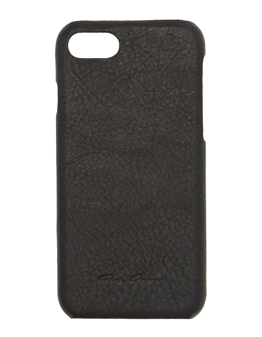 RICK OWENS Black Leather iPhone 7 Case