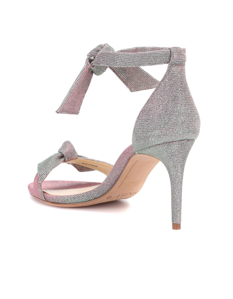 ALEXANDRE BIRMAN Leather and fabric sandals