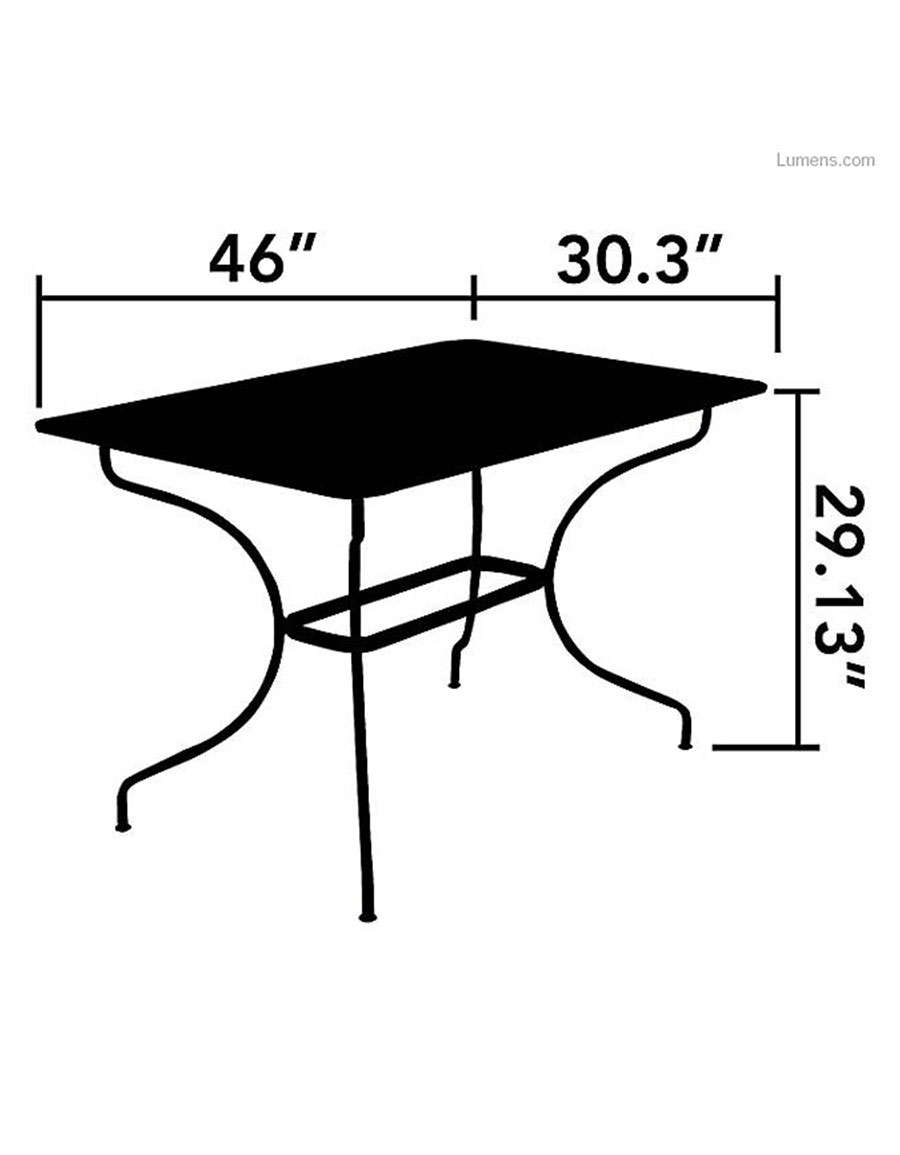 FERMOB Opera Rectangular Table