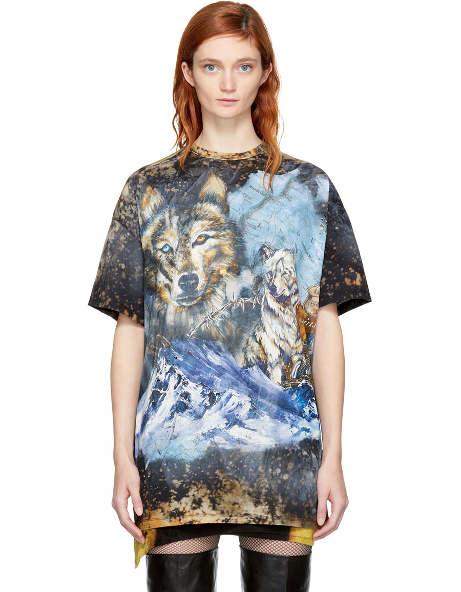 balmain wolf t shirt