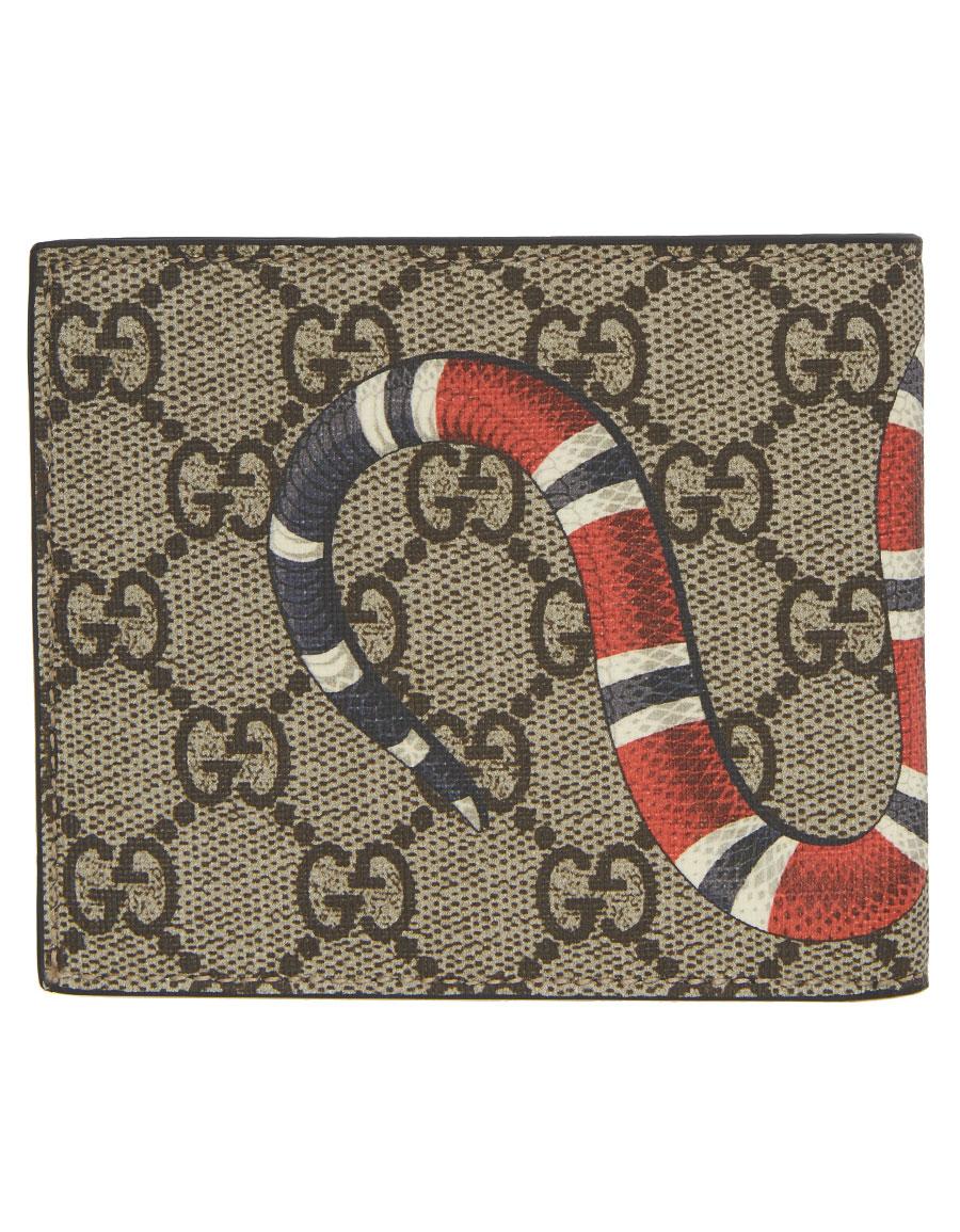 87e820406596 GUCCI Beige GG Supreme Snake Wallet · VERGLE