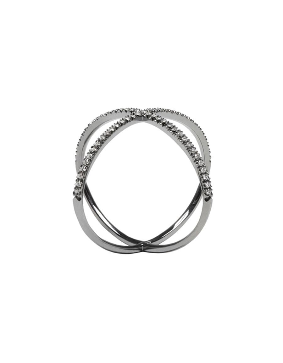 EVA FEHREN Black Gold 'X' Ring