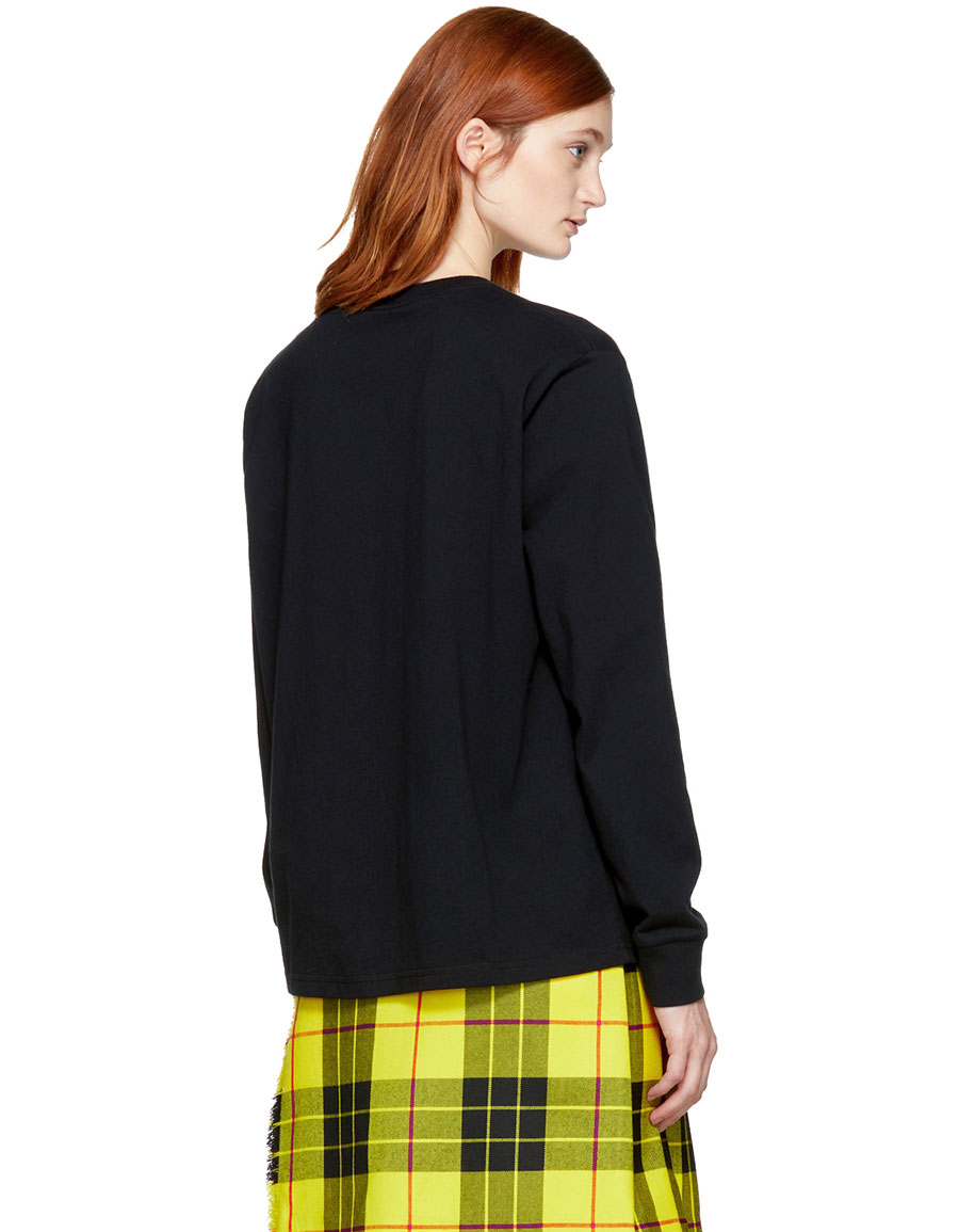 ASHLEY WILLIAMS Black Long Sleeve 'Gimmie Five!' T Shirt