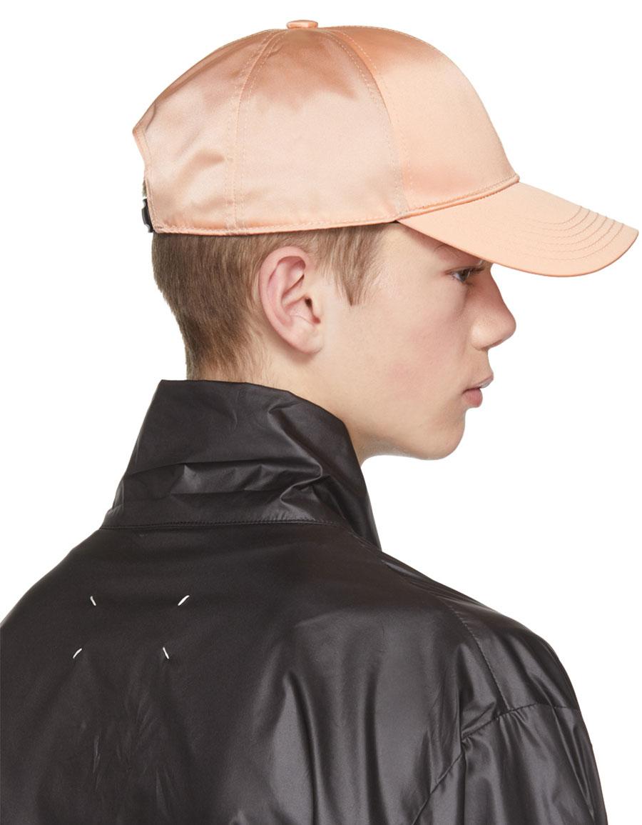 ACNE STUDIOS Pink Camp Bomber Cap