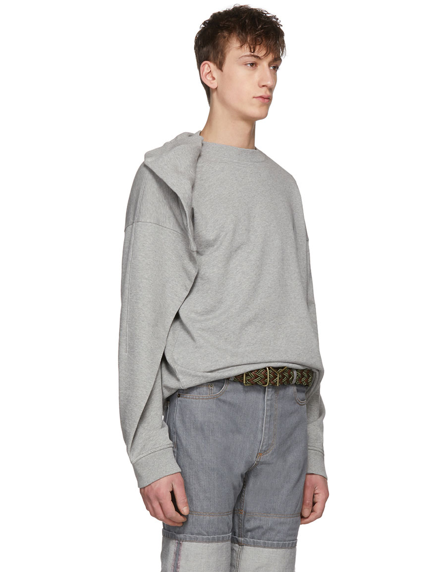Y/PROJECT Grey Oversized Sweatshirt