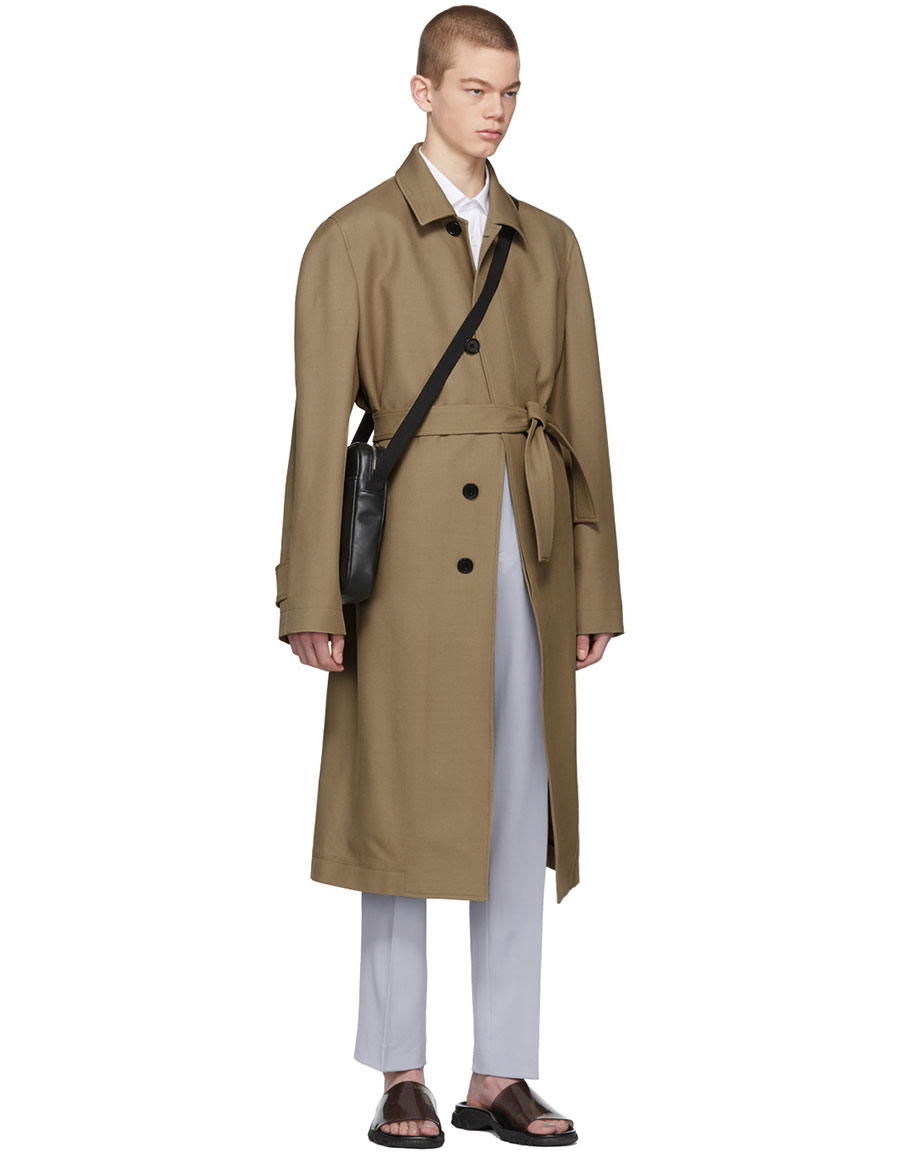 STELLA MCCARTNEY Tan Wool Venus Print Coat