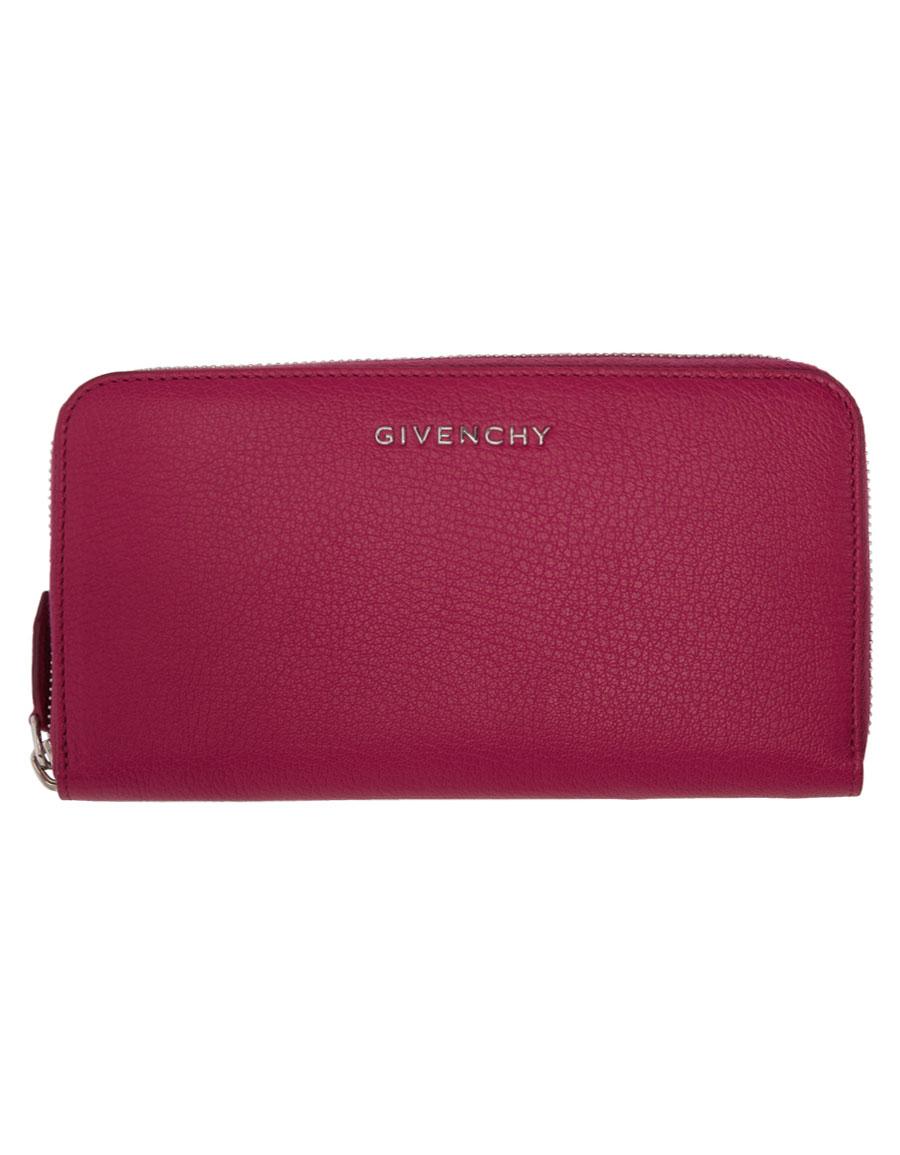 GIVENCHY Pink Long Pandora Zip Around Wallet