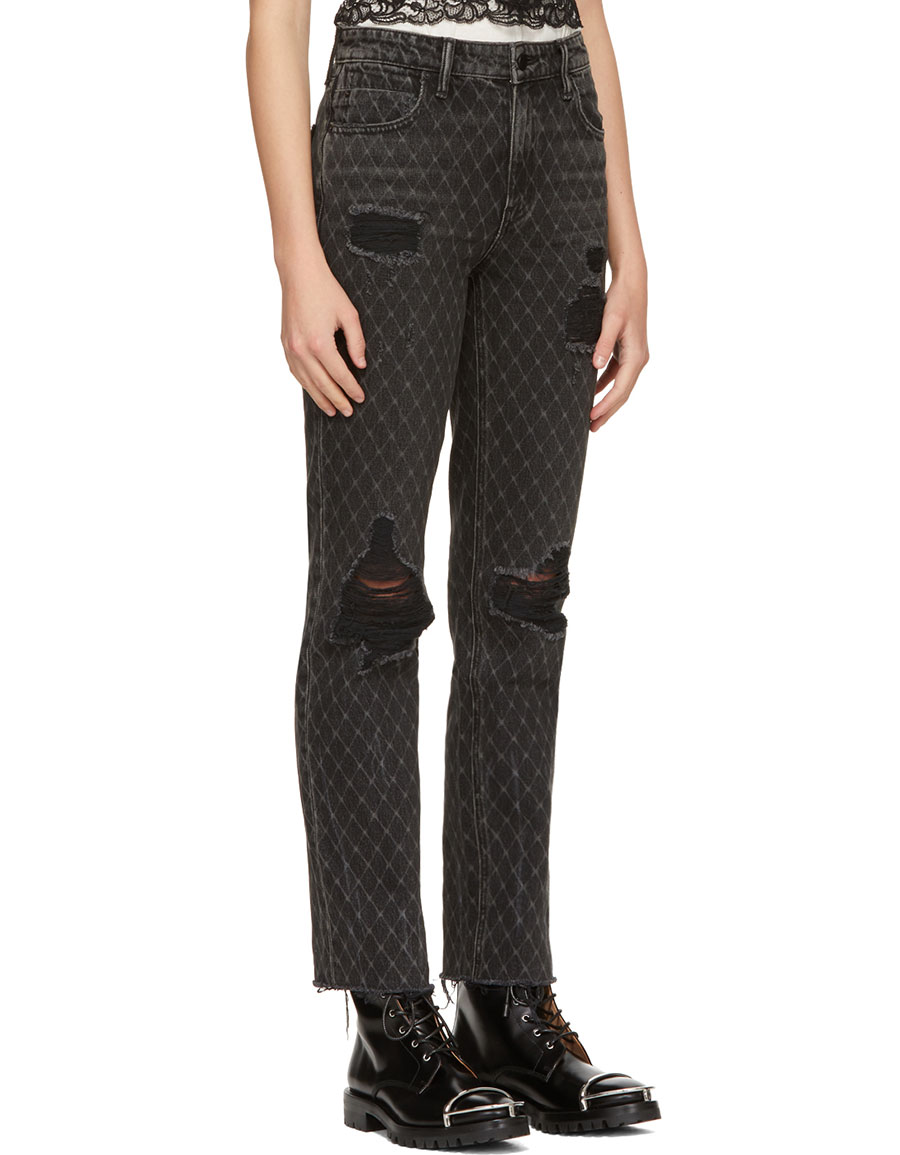 ALEXANDER WANG Grey Cult Net Jeans