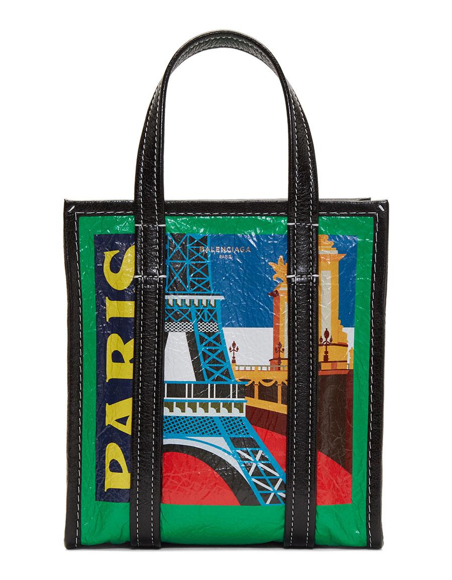 BALENCIAGA Multicolor XS 'Paris' Bazar Tote