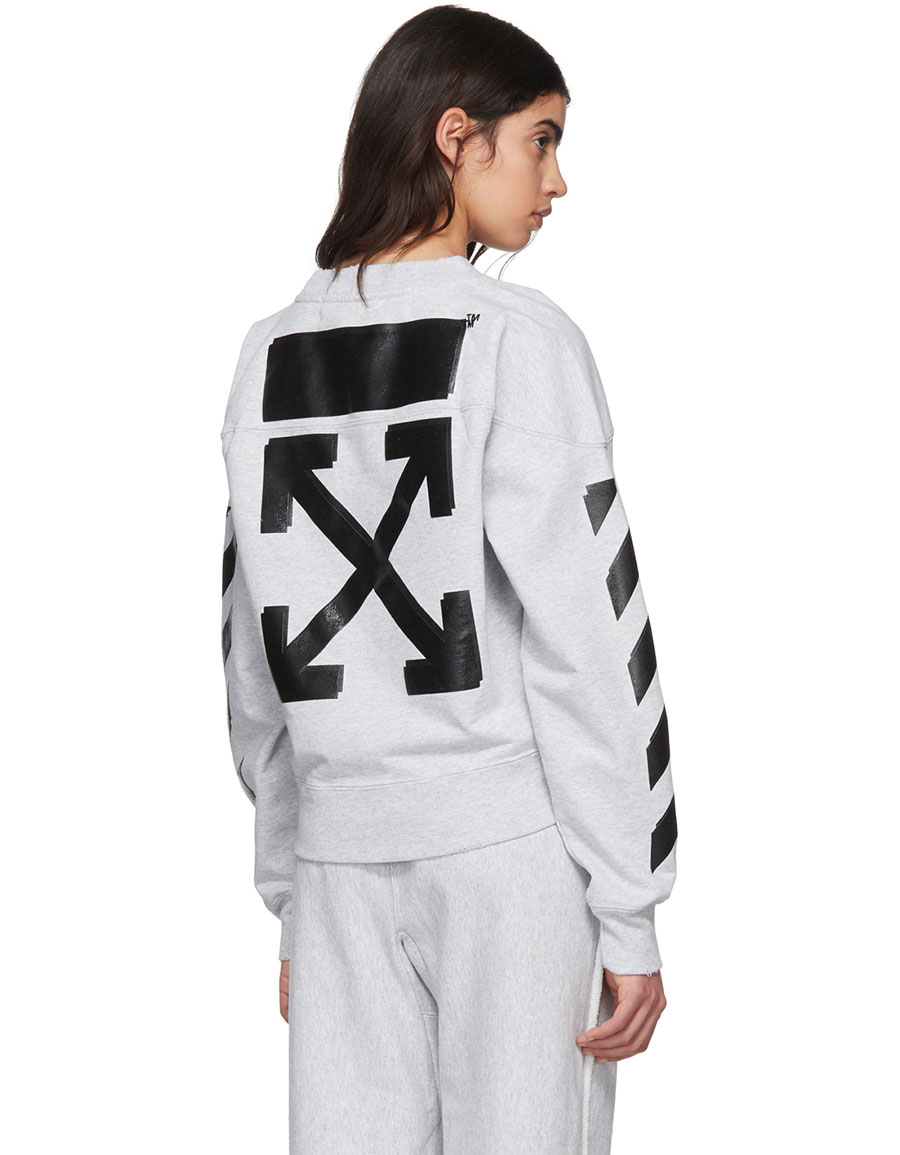 OFF WHITE Grey Champion Edition Sweatshirt
