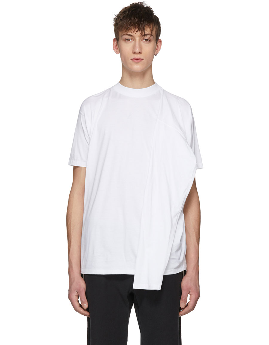 Y/PROJECT White Four Sleeve T Shirt