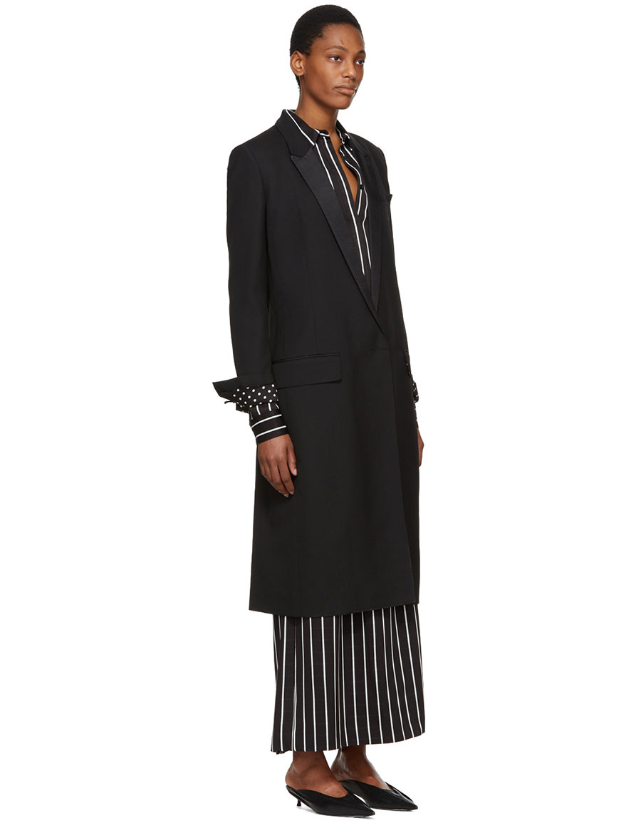 HAIDER ACKERMANN Black Calder Coat