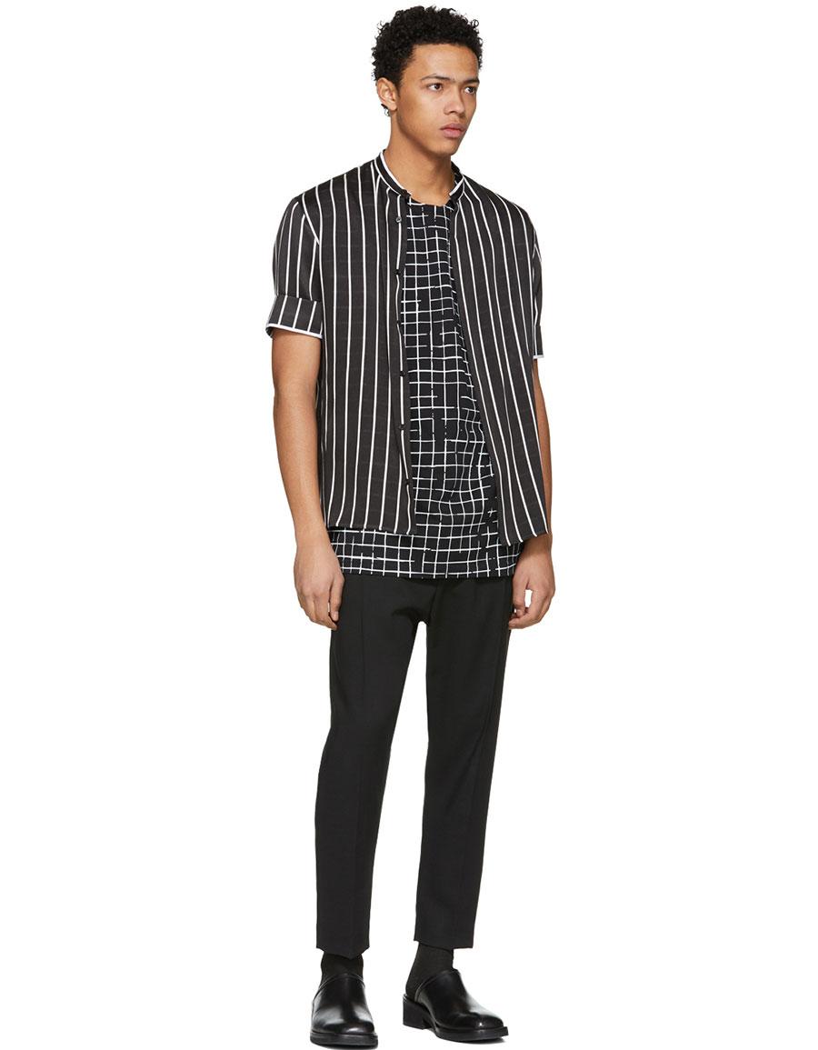 HAIDER ACKERMANN Black & White Perfusion T Shirt
