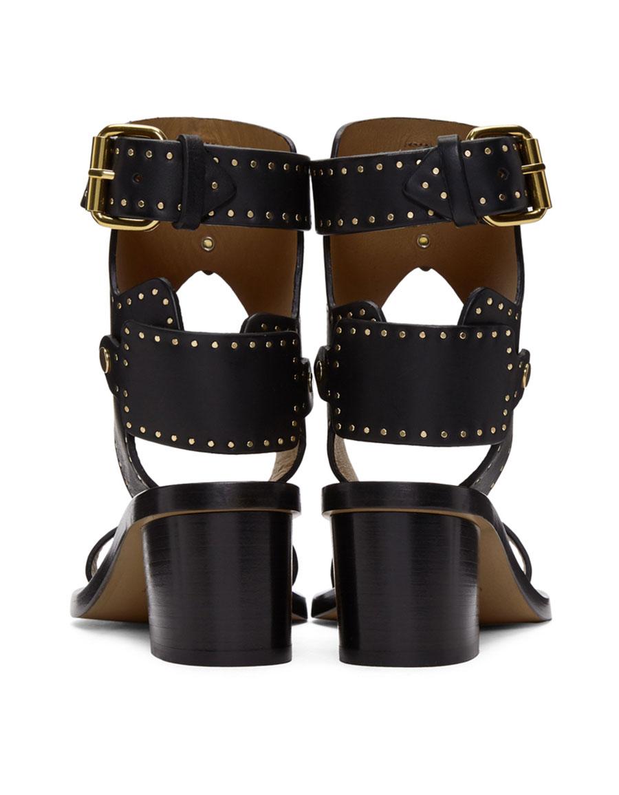 ISABEL MARANT Black Vegetal Iconic Jaeryn Sandals