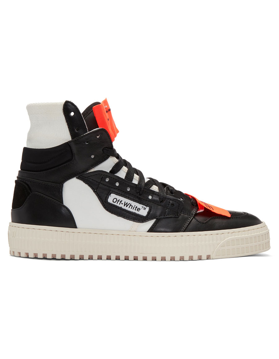 OFF WHITE Black & White Low 3.0 High Top Sneakers