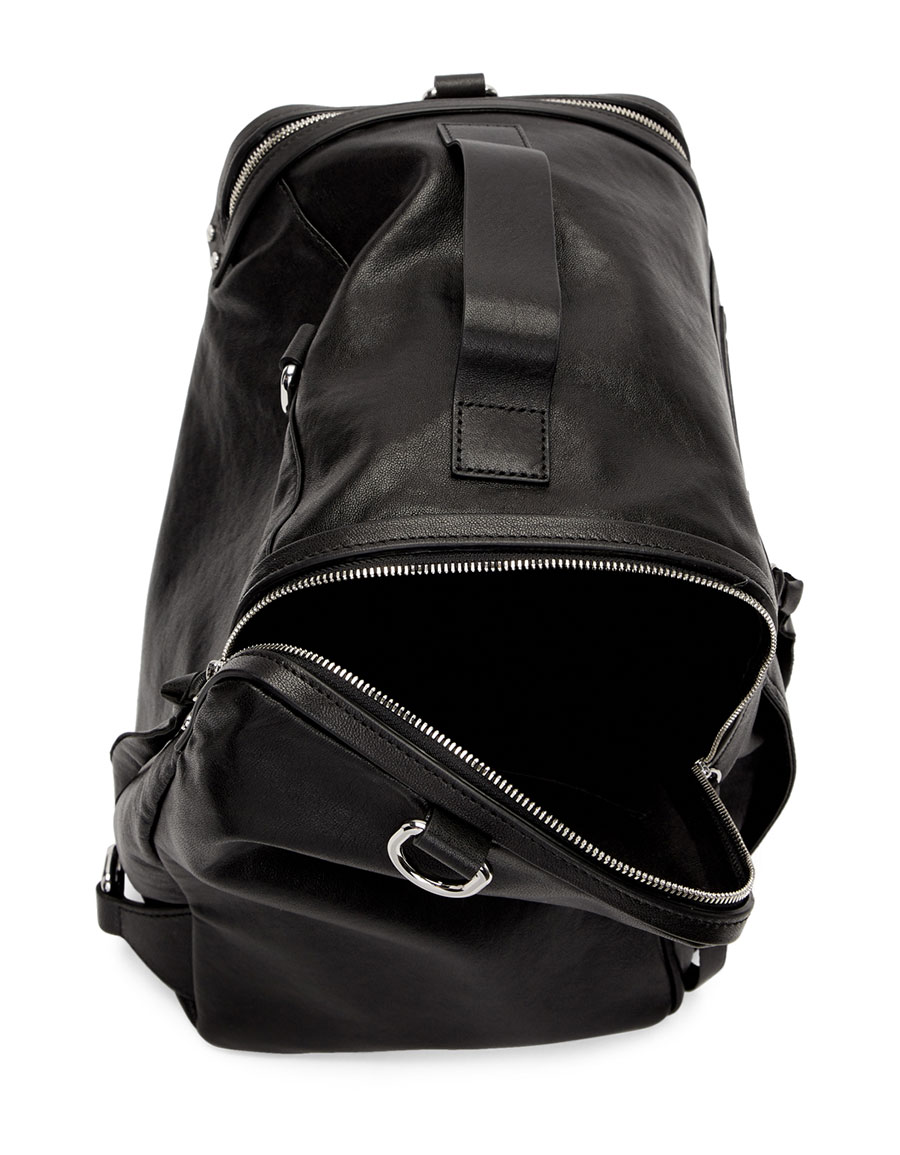 ALEXANDER MCQUEEN Black Convertible Box Backpack