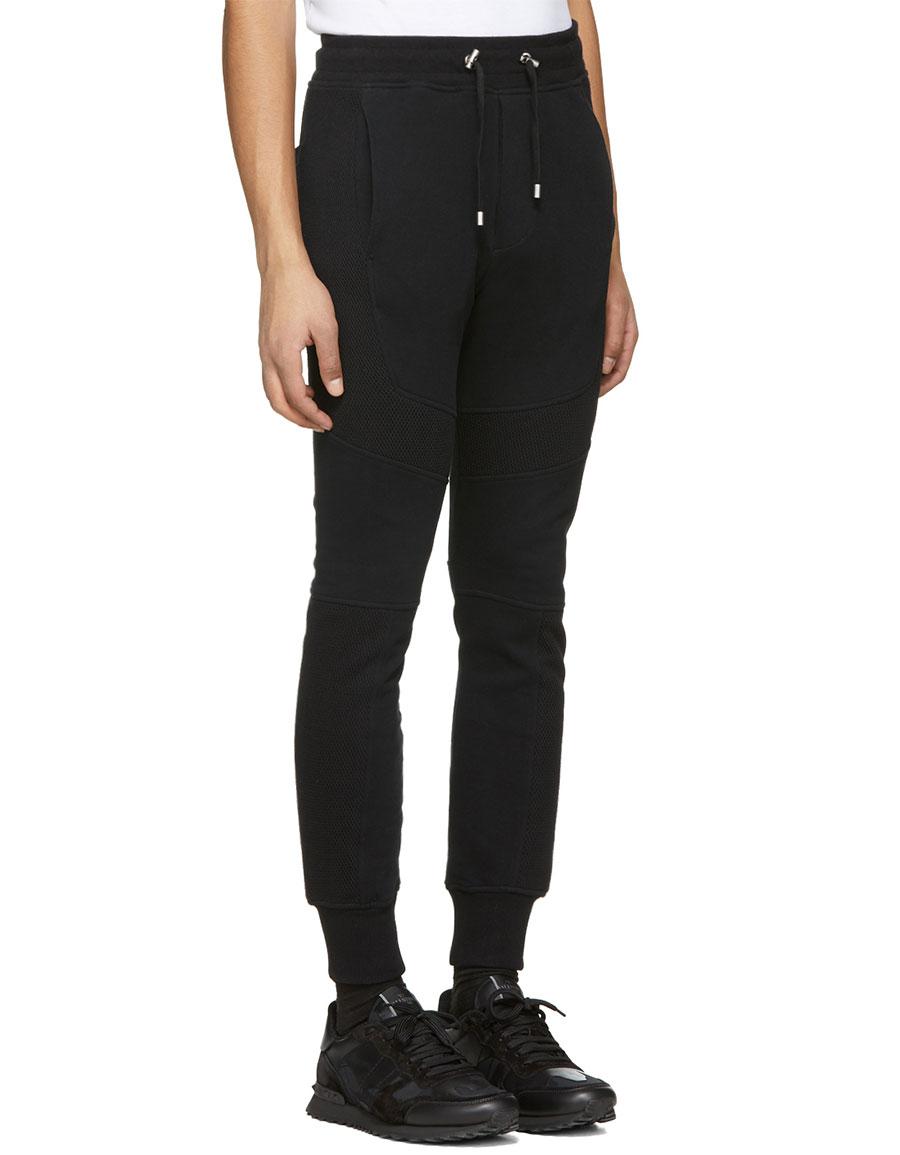 BALMAIN Black Panelled Lounge Pants