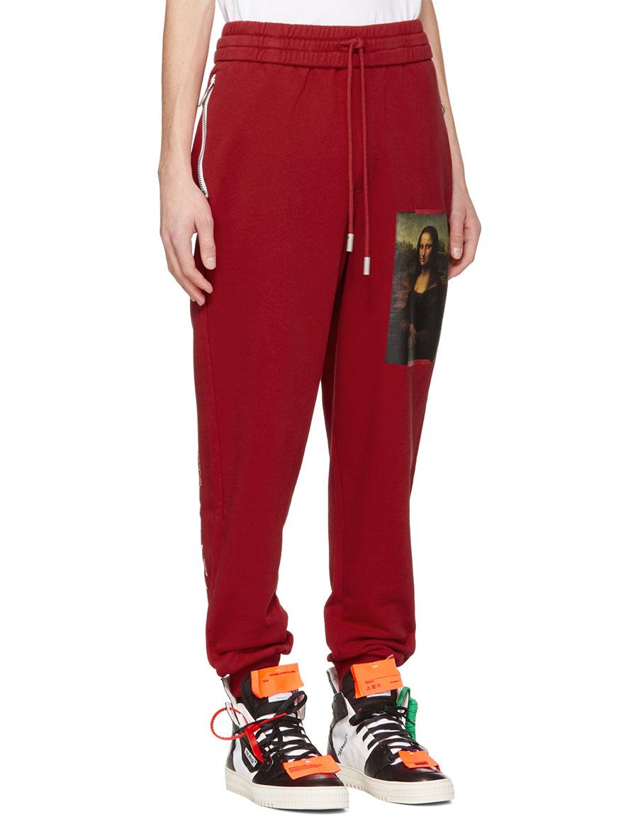OFF WHITE Red Monalisa Lounge Pants