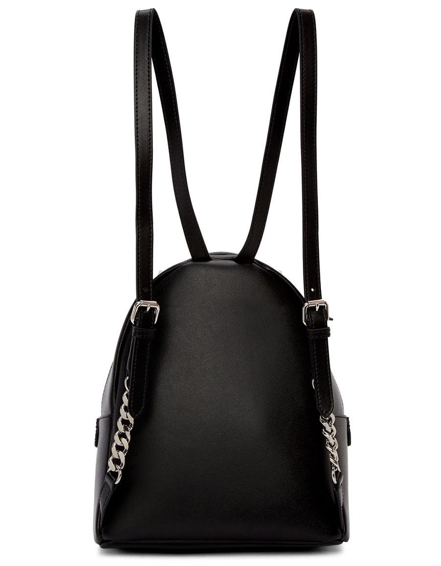 FENDI Black Mini 'Romantic Bow' Backpack
