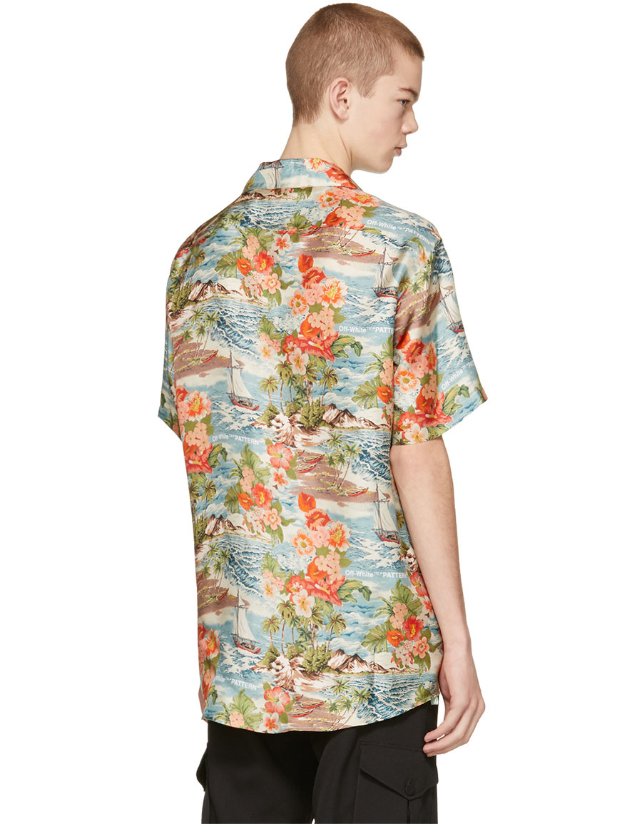 OFF WHITE Multicolor Silk Hawaiian Shirt