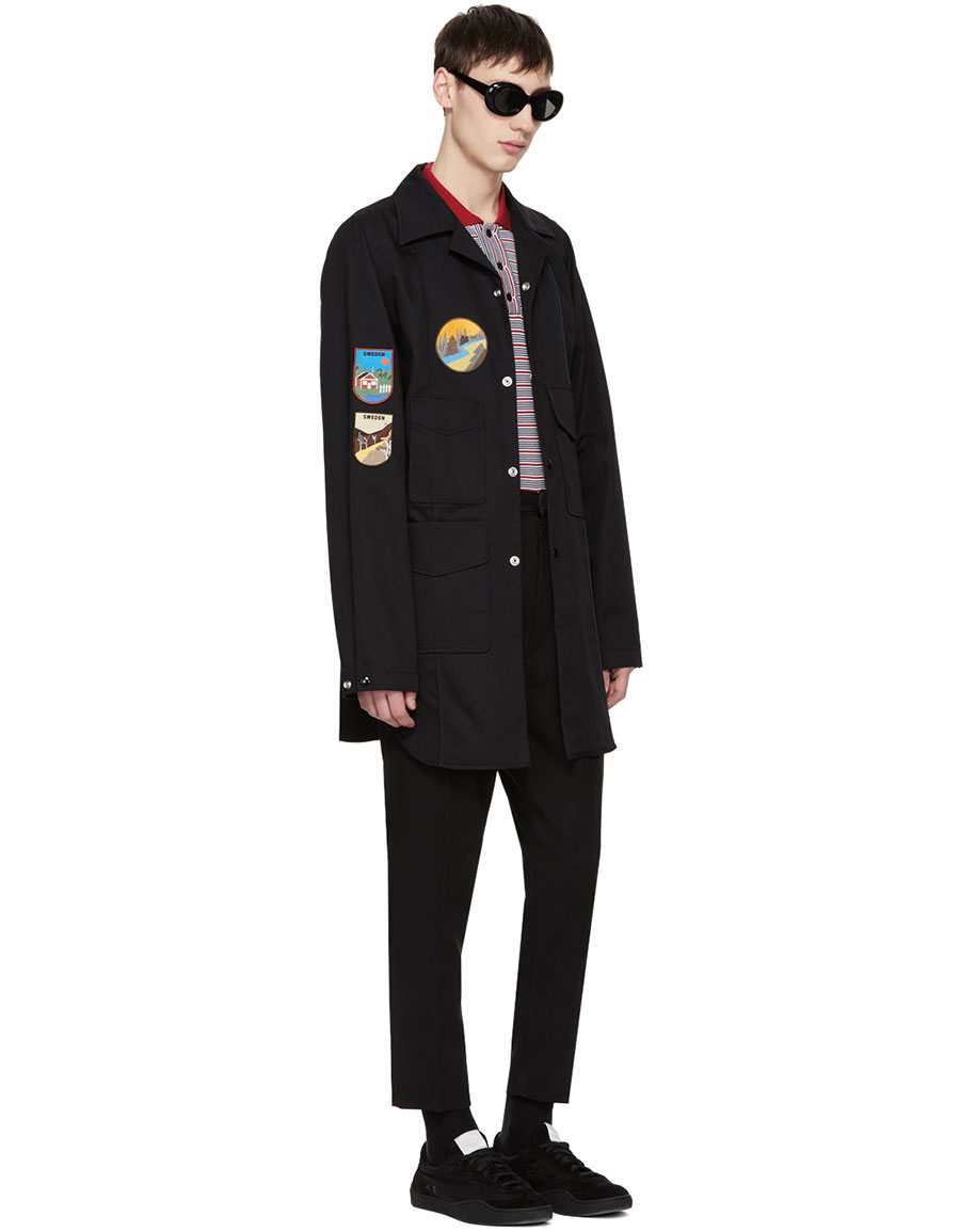 ACNE STUDIOS Black Malvel Patch Jacket