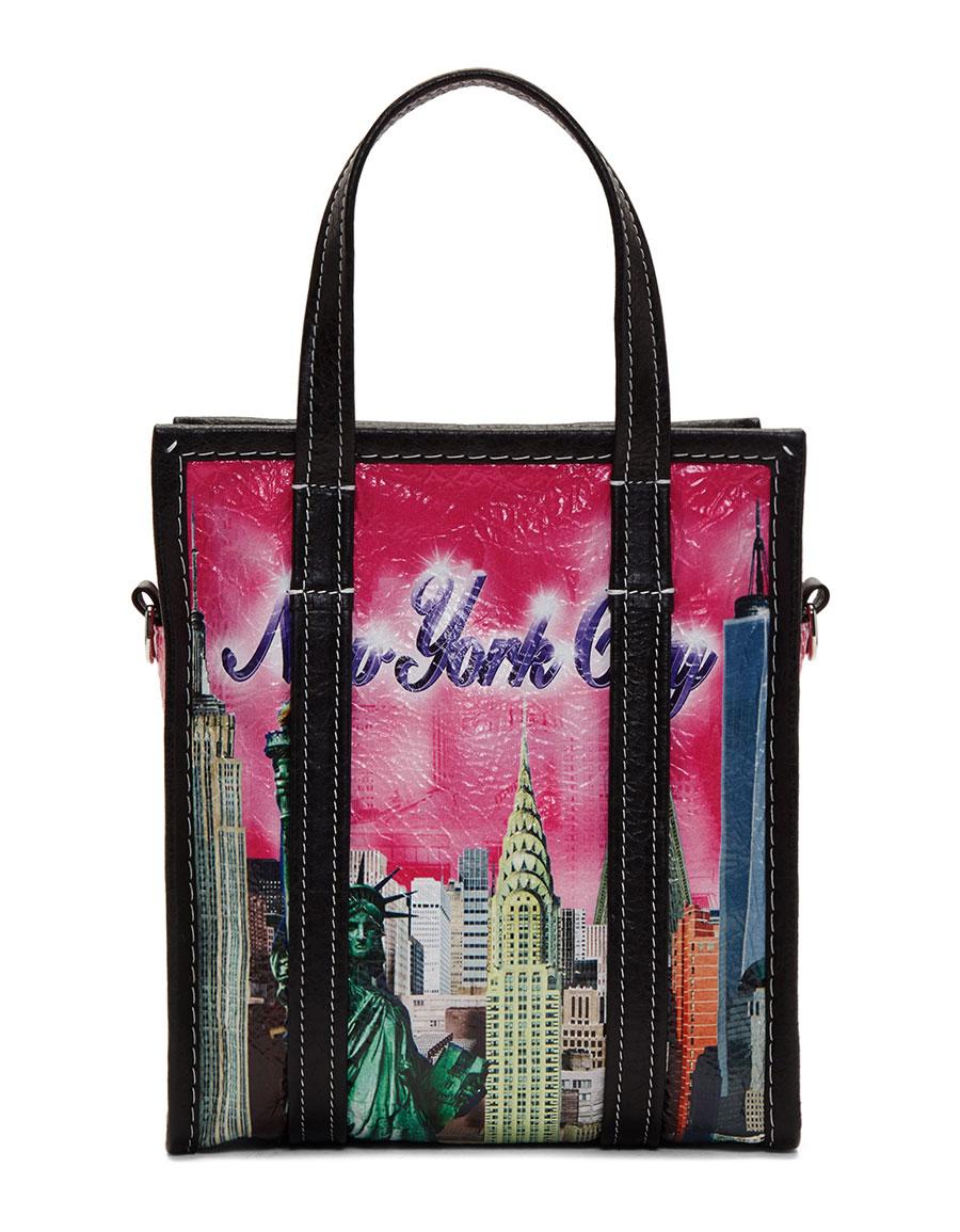 BALENCIAGA Multicolor XS 'NYC' Bazar Tote